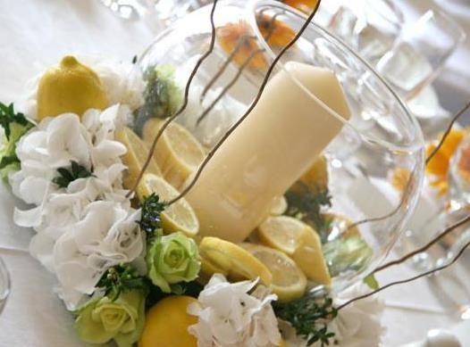 Centros de mesa artificiales para boda