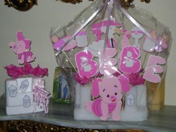 Centros de mesa baby shower niña