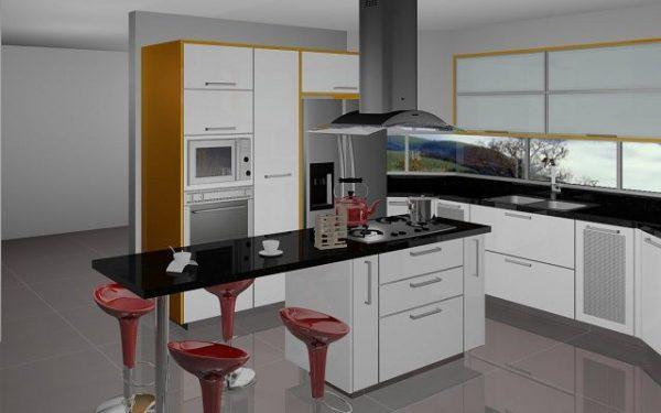 Cocinas con islas modernas - Cocinas pequenas con isla ...