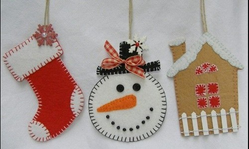 Manualidades de navidad en fieltro - Como hacer cosas para navidad ...