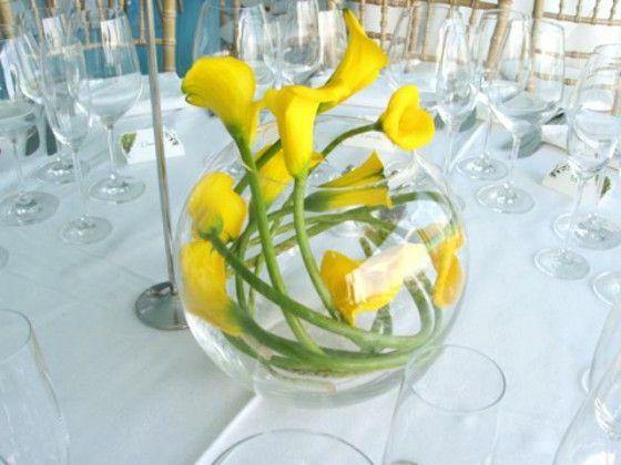 Peceras de cristal para centros de mesa