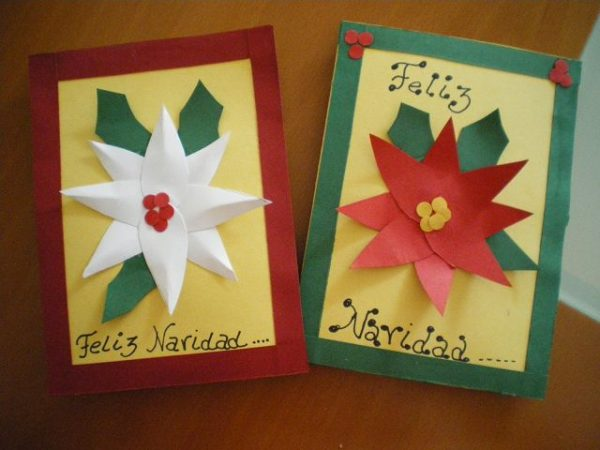 Manualidades de tarjetas de navidad - Tarjetas de navidad manuales ...