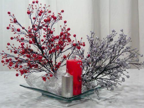 Centros de mesa con flores secas - Centros navidenos caseros ...
