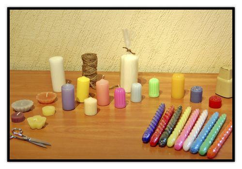 Moldes de velas artesanales