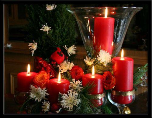 Velas de navidad manualidades