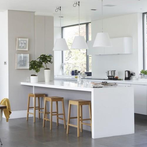 Decoraci n de cocinas minimalistas - Cocinas en color blanco ...