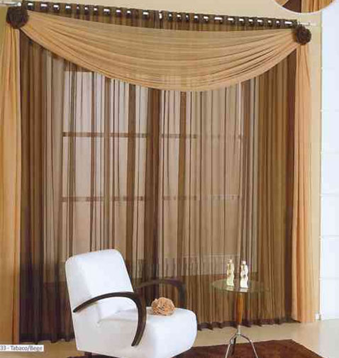 Decoraci n de cortinas para salas - Accesorios para cortinas ...
