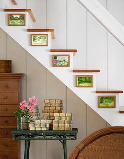 Decoraci n de escaleras de interior - Salones con escaleras ...