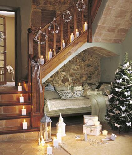 187-Decoración de escaleras navideñas.