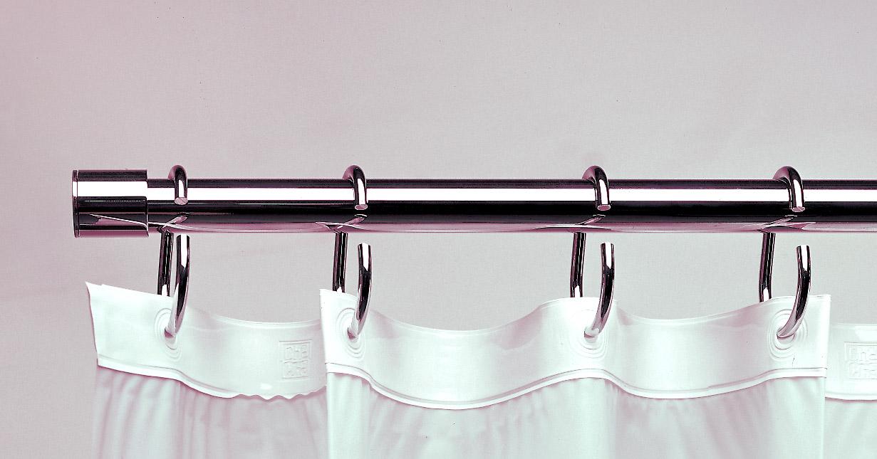 Barras para cortinas de ba o for Ojales para cortinas de bano