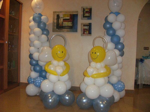 Como decorar con globos un bautizo for Como adornar con globos