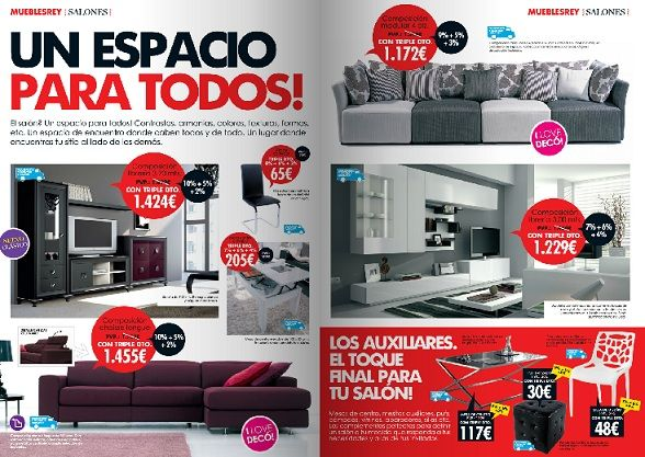 Catalogo de muebles rey for Catalogo de muebles de salon