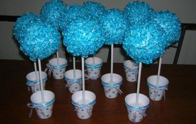Pictures of consejos tips sobre centros mesa para bautizos - Como hacer centros de mesa con dulces para bautizo ...