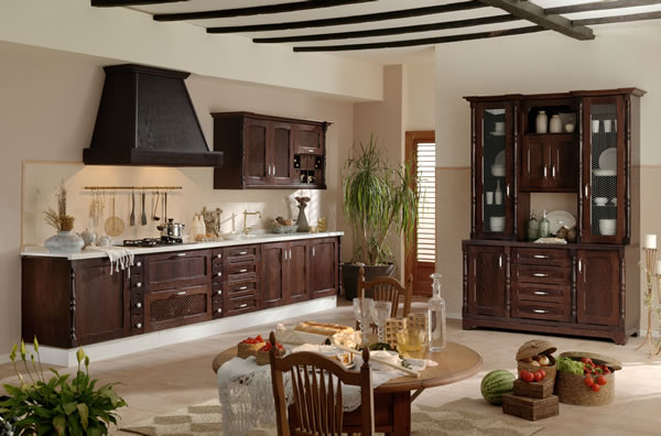 Colores para cocinas r sticas for Cortinas para muebles de cocina rustica