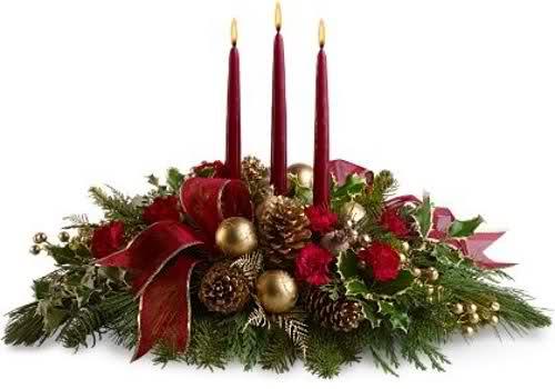 Como hacer centros de mesa navide os - Centro de mesa navideno manualidades ...