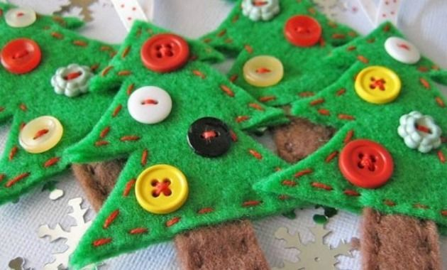 Manualidades en tela para navidad - Arbol de navidad artesanal ...