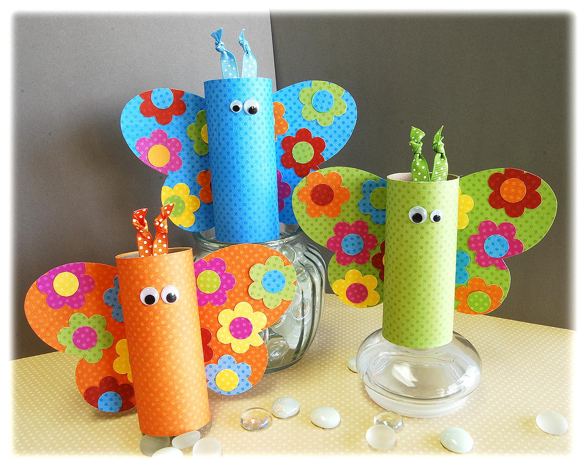 Butterfly Craft with Toilet Paper Rolls