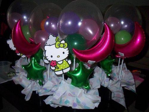 Centros de mesa con globos para baby shower