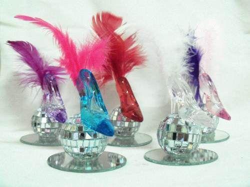 Centros de mesa con plumas
