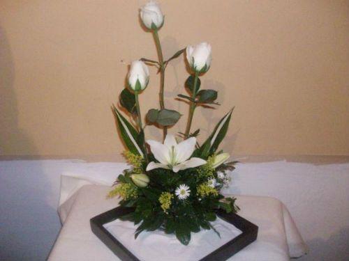 Centros de mesa con rosas