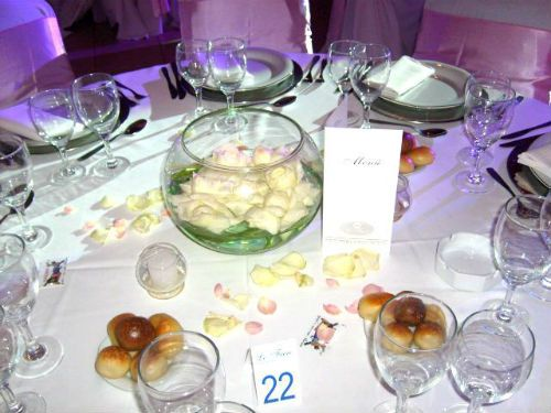 Centros de mesa de 15 años de vidrio
