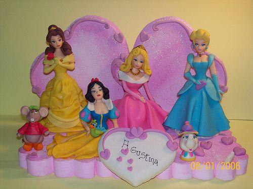 Centros de mesa de princesas de disney