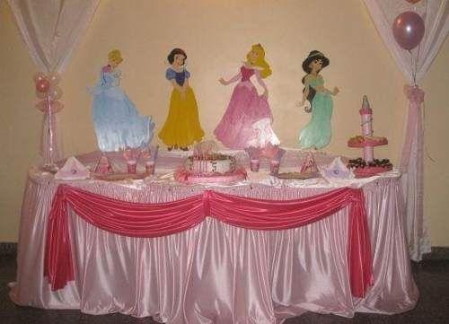 Centros de mesa de princesas disney
