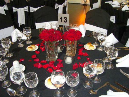 Centros de mesa de rosas