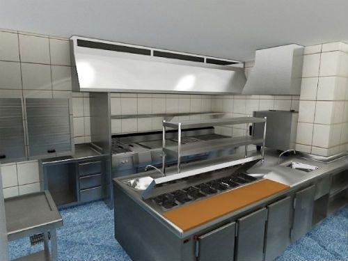 Dise o de cocinas restaurantes for Planos de cocinas para restaurantes