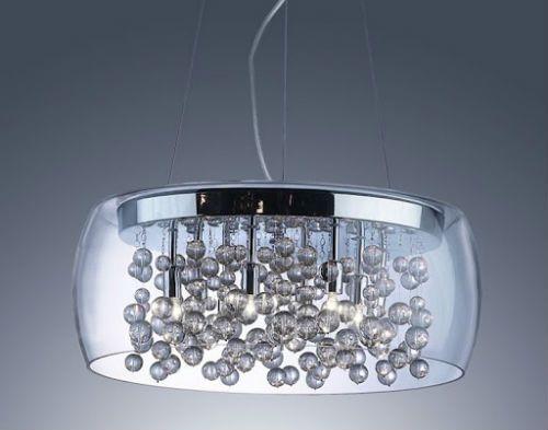 L mparas cristal modernas - Lamparas para salon modernas ...