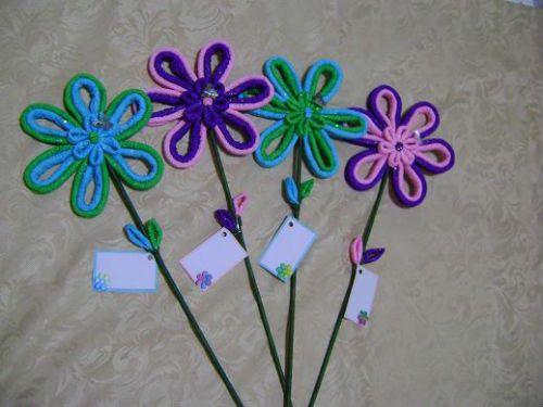 Manualidades con papel flores