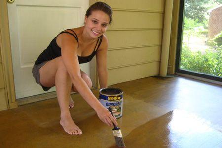 Como pintar un piso - Pintura para pintar piso de cemento ...