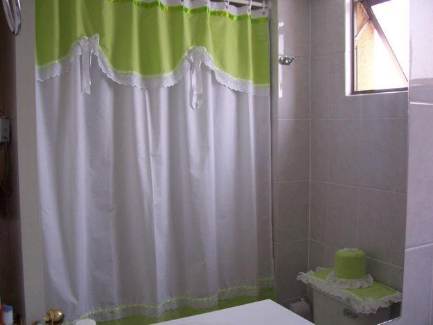 Manualidades para el ba o en tela for Modelos de cortinas de bano en tela