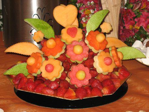 Centros de mesa de frutas