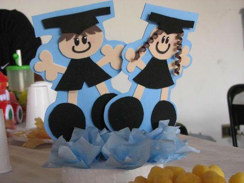 Centros de mesa de graduación