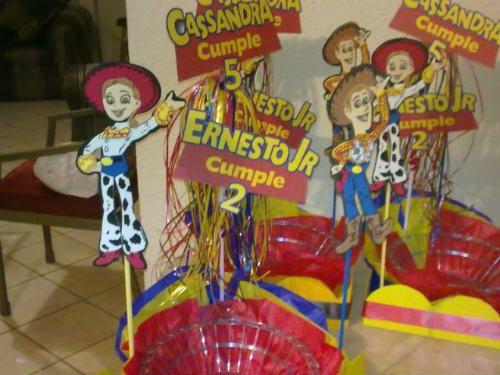 Centros de mesa de toy story
