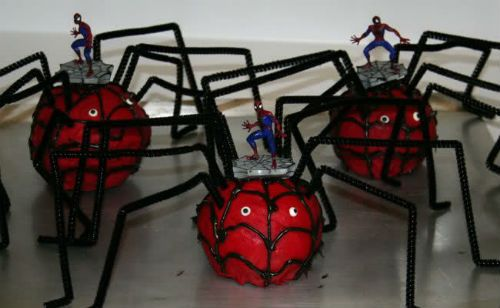 Centros de mesa del hombre araña
