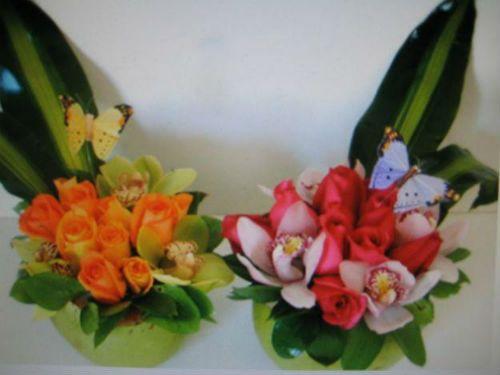 Centros de mesa florales para bautizo