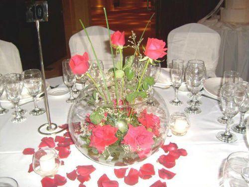 Centros de mesa florales para boda