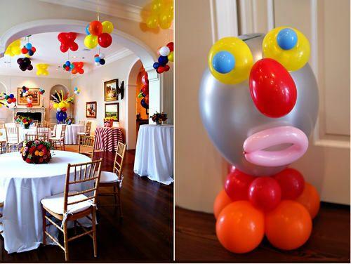 Centros de mesa infantiles con globos