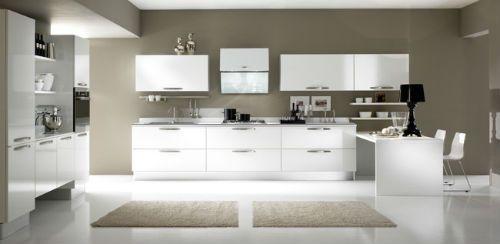 Cocinas blancas de dise o for Cocinas diseno blancas