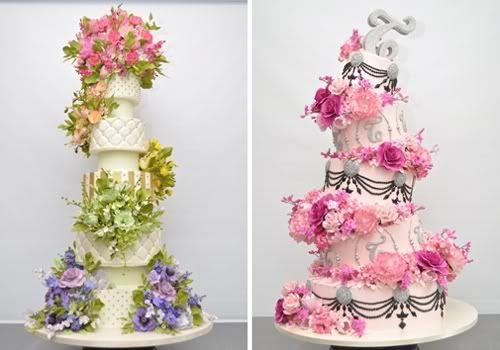 Fotos de pasteles de bodas