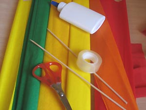 Manualidades navide as con papel crepe for Manualidades con papel crepe