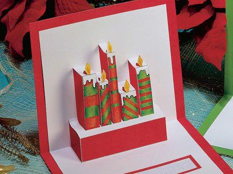 Manualidades postales de navidad for Cosas artesanales para navidad