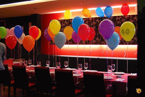 Centros de mesa para 15 años con globos