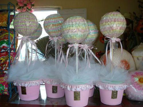 Modelos de adornos para bautizo imagui - Como hacer centros de mesa con dulces para bautizo ...