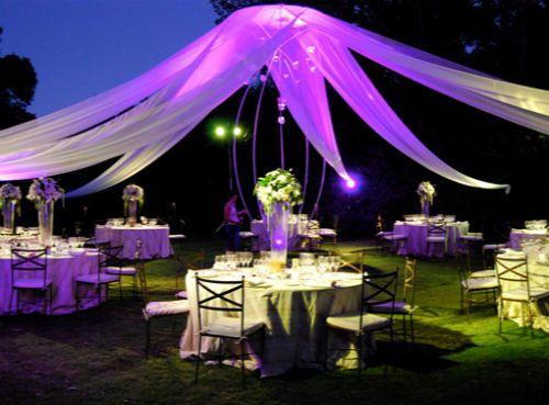 Centros de mesa para boda con flores artificiales