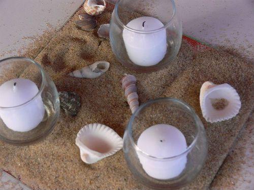 Centros de mesa para boda con velas y flores