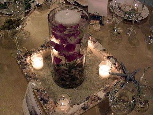 Centros de mesa para boda con velas