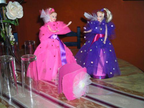 Centros de mesa para cumpleaños de niña